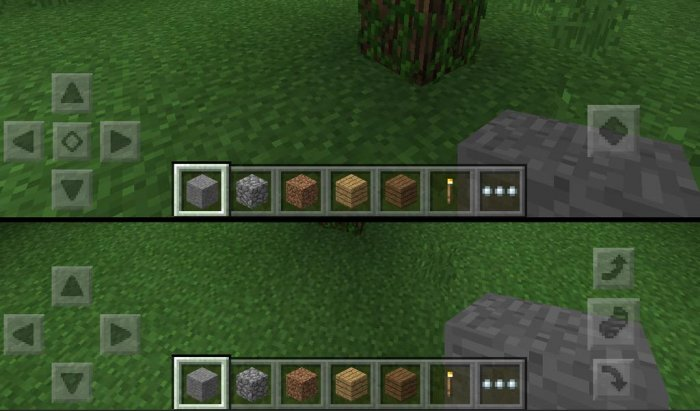 MCPE 0.12.0: New control buttons!