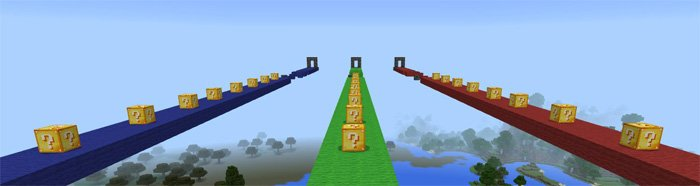Lucky Block Race (Minigame) (Addon!) 2 ver | Maps for