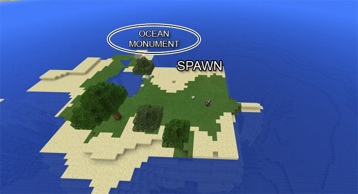 Ocean Monument At Spawn 1.2.5/1.2.1/1.2/1.1