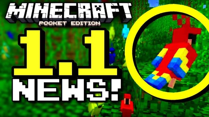 Download Minecraft PE 1.1 (Test Version) for Android free
