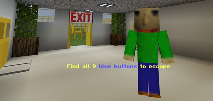 Download Baldi's Basics in Find the Button Map for Minecraft for Android