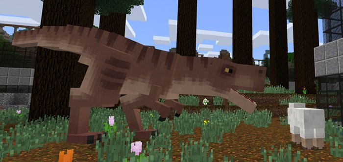 Download T-Rex addon for Minecraft Bedrock Edition 1.8 for Android