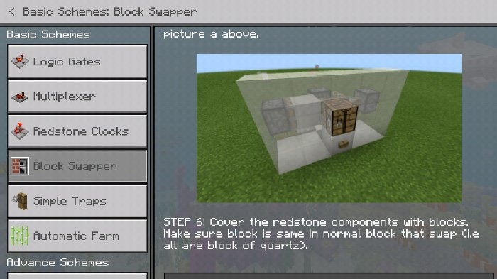 Download Redstone Guide Addon for Minecraft Pocket Edition for Android