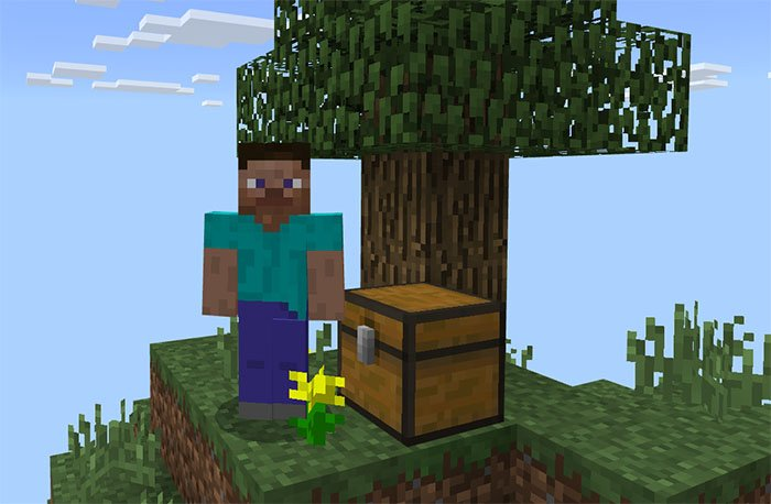Download Sky Games Logo SkyBlock map for Minecraft Pocket Edition