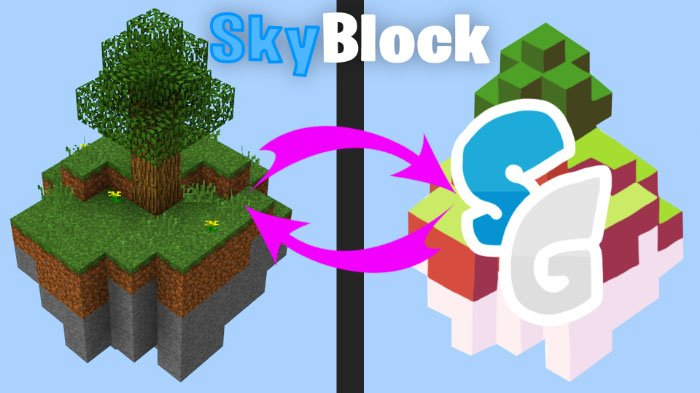 Sky Games Logo SkyBlock map