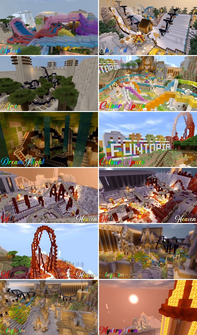 Download Funtopia Park Roller Coaster Map for Minecraft Pocket Edition for Android