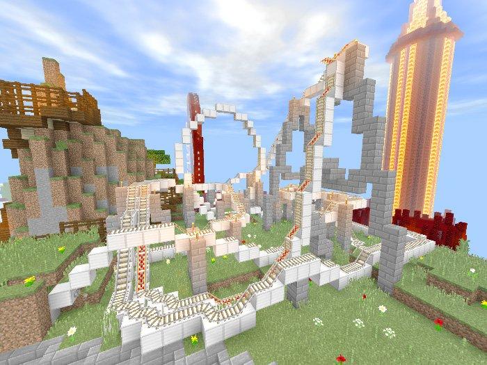 Funtopia Park Roller Coaster Map