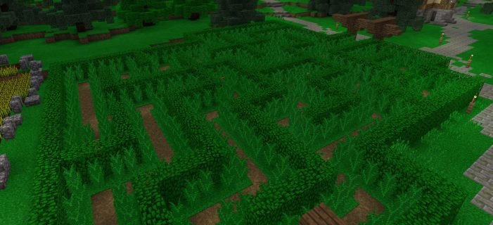 Download SkyGames Countryside Maze Map for MCPE 1.9