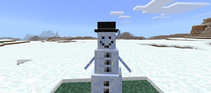 Download Snowman addon for Minecraft Pocket Edition