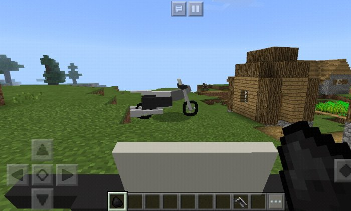 Download Addon Motorcycle for Minecraft Bedrock 1.9 - Android | PlanetMCPE