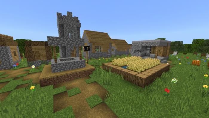 Download Addon Village Generator Function for Minecraft PE