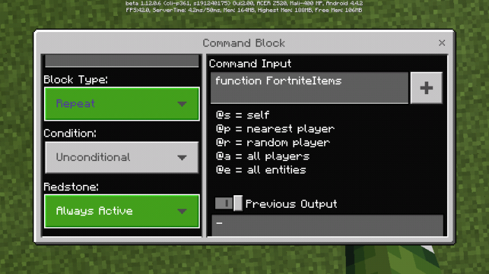 Download Addon Fortnite Items v1.0.0 Function for Minecraft PE - APK | PlanetMCPE